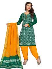 PADMiNi Unstitched Printed Cotton Dress Material (Product Code - DTBJBATIKDARK1011)