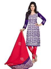 PADMiNi Unstitched Printed Cotton Dress Material (Product Code - DTBJBATIKDARK1018)