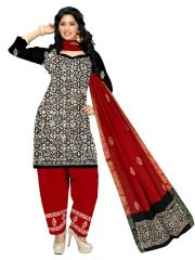 PADMiNi Unstitched Printed Cotton Dress Material (Product Code - DTBJBATIKDARK1020)