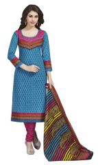 PADMiNi Unstitched Printed Cotton Dress Materials Fabrics (Product Code - DTAFROOPMILAN1107)