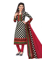 PADMiNi Unstitched Printed Cotton Dress Materials Fabrics (Product Code - DTVCKRISHIKA2106)