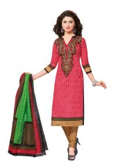 PADMiNi Unstitched Printed Cotton Dress Material (Product Code - DTAFROOPMILAN2805)