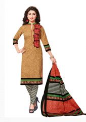 PADMiNi Unstitched Printed Cotton Dress Material (Product Code - DTAFROOPMILAN2808)