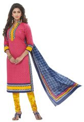 PADMiNi Unstitched Printed Cotton Dress Materials Fabrics (Product Code - DTAFSPL2905)