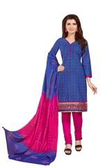 PADMiNi Unstitched Printed Cotton Dress Material (Product Code - DTSJSELFIE3006)