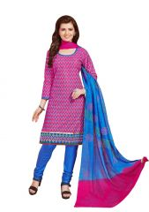 PADMiNi Unstitched Printed Cotton Dress Material (Product Code - DTSJSELFIE3009)