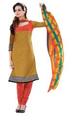 PADMiNi Unstitched Printed Cotton Dress Materials Fabrics (Product Code - DTBJAROMA3141)