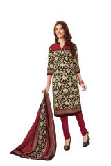 PADMiNi Unstitched Printed Cotton Dress Material (Product Code - DTAFBLACKBEAUTY3302)