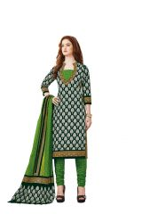 PADMiNi Unstitched Printed Cotton Dress Material (Product Code - DTAFBLACKBEAUTY3307)