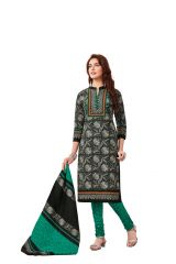 PADMiNi Unstitched Printed Cotton Dress Material (Product Code - DTAFBLACKBEAUTY3309)