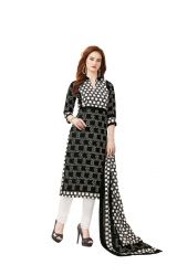 PADMiNi Unstitched Printed Cotton Dress Material (Product Code - DTAFBLACKBEAUTY3312)
