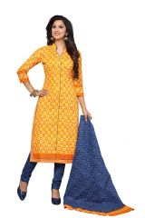 PADMiNi Unstitched Printed Cotton Dress Materials Fabrics (Product Code - DTAFROOPMOHINI3422)