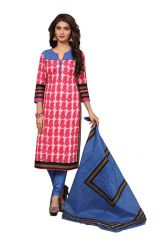 PADMiNi Unstitched Printed Cotton Dress Materials Fabrics (Product Code - DTAFROOPMOHINI3424)