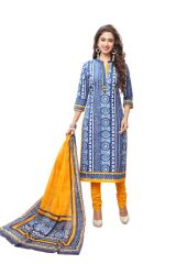 PADMiNi Unstitched Printed Cotton Dress Material (Product Code - DTAFSPL3710)