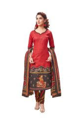 PADMiNi Unstitched Printed Cotton Dress Material (Product Code - DTAFSPL3718)
