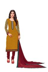 PADMiNi Unstitched Printed Cotton Dress Material (Product Code - DTKAKASHISH2502)
