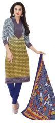 PADMiNi Unstitched Printed Cotton Dress Materials Fabrics (Product Code - DTMCM5051)