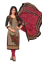 PADMiNi Unstitched Printed Cotton Dress Material (Code - DTKAPREYANSHI5172)