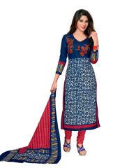 PADMiNi Unstitched Printed Cotton Dress Material (Code - DTKAPREYANSHI5177)