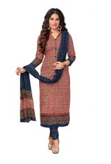 PADMiNi Unstitched Printed Cotton Dress Material (Code - DTKASMIT5514)