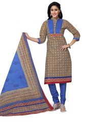PADMiNi Unstitched Printed Cotton Dress Material (Product Code - DTSKMADHUBALA206)