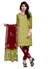 PADMiNi Unstitched Printed Cotton Dress Material (Product Code - DTBJBATIKDARK907)