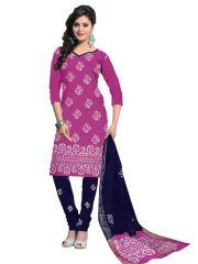 PADMiNi Unstitched Printed Cotton Dress Material (Product Code - DTBJBATIKDARK908)