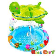 Intex Sea Turtle Shade Baby Pool - 57119NP ( 40In X 42In)