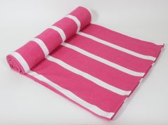 Blueberry Home Pink Color Cotton Fabric Pack Of 1 Bed Cover Set