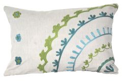 Blueberry Home Cotton Fabric Blue Color Pillow Cover (45X30 Cms)