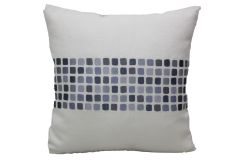 Blueberry Home Linen fabric grey color Cushion cover (40X40 cms)