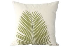 Blueberry Home Cotton fabric Green color Cushion cover (40X40 cms)