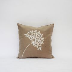 Blueberry Home Cotton fabric Beige color Cushion cover (40X40 cms)