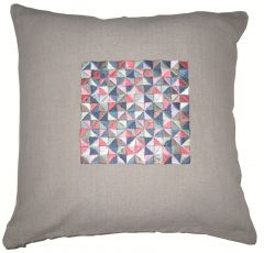 Blueberry Home Cotton fabric multicolor color Cushion cover (40X40 cms)