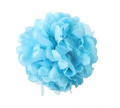 TARA BLUE FLOWER JAW TYPE HAIR CLIP