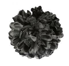 TARA BLACK FLOWER JAW TYPE HAIR CLIP