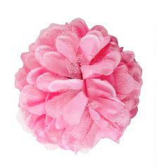 TARA PINK FLOWER JAW TYPE HAIR CLIP