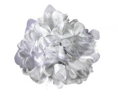 TARA WHITE FLOWER JAW TYPE HAIR CLIP