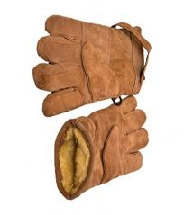 SPHINX SUEDE LEATHER WINTER AND RIDING GLOVES FOR MEN - BROWN