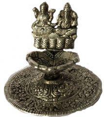 Idols & Decoratives - SPHINX SHREE LAKSHMI - GANESH SILVER PLATED IDOL (SMALL)