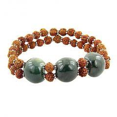 Rudraksha And Agate Bracelet Bracelet