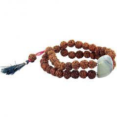 Rudraksha Beads & Fluorite Gemstone Bracelet