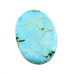 Tanzanite - Nirvanagems24.90 Cts Oval Cabochon Certified Turquoise Gemstone - BR-19792_RF