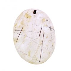 NirvanagemsNatural 48 Ct Rutile Quartz Gemstone With Certificate - BR-20236_RF