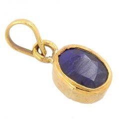 Nirvana Gems 4.25 Ratti Blue Sapphire Neelam Shani Dosh Remedy Pendant - (YSP-17B-PNDT)