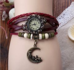 Fripperry Angel Moon Charm Vintage Watch_WSTS39