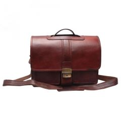 "Chanter Texture Design Genuine Leather Brown 12"" Laptop Bag - EA108"