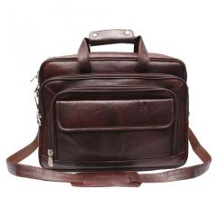 "Chanter Texture Design Genuine Leather Brown 14.5"" Laptop Bag - EA111"