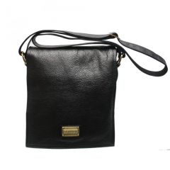 Chanter Texture Design Genuine Leather  Black Sling Cross Bag - RA713