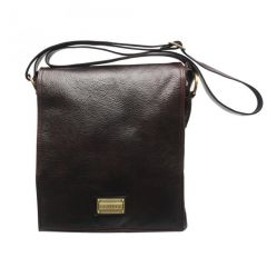 Chanter Texture Design Genuine Leather  Brown Sling Cross Bag - RA715